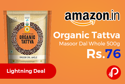 Organic Tattva Masoor Dal Whole 500g