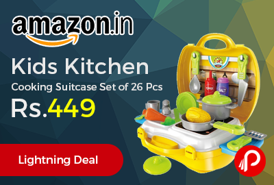 Kids Kitchen Cooking Suitcase Set of 26 Pcs