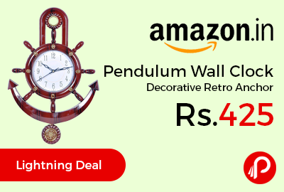 Pendulum Wall Clock Decorative Retro Anchor