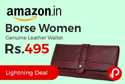 Borse Women Genuine Leather Wallet