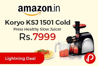 Koryo KSJ 1501 Cold Press Healthy Slow Juicer at Rs.7999 Only - Amazon