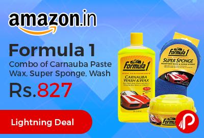 Formula 1 Combo of Carnauba Paste Wax, Super Sponge, Wash
