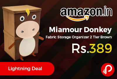 Miamour Donkey Fabric Storage Organizer 2 Tier Brown at Rs.389 Only - Amazon