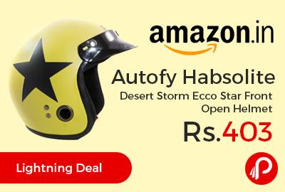 Autofy Habsolite Desert Storm Ecco Star Front Open Helmet