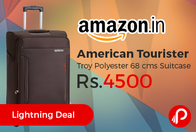 American Tourister Troy Polyester 68 cms Suitcase at Rs.4500 Only - Amazon