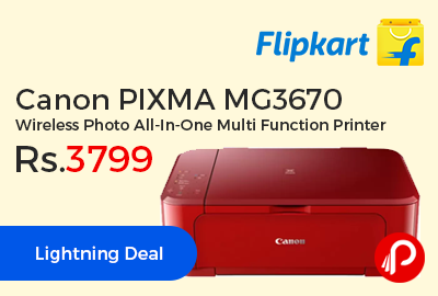 Canon PIXMA MG3670 Wireless Photo All-In-One Multi Function Printer