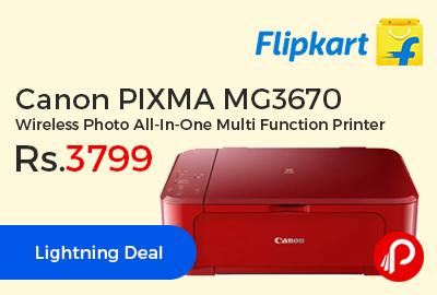 Canon PIXMA MG3670 Wireless Photo All-In-One Multi Function Printer