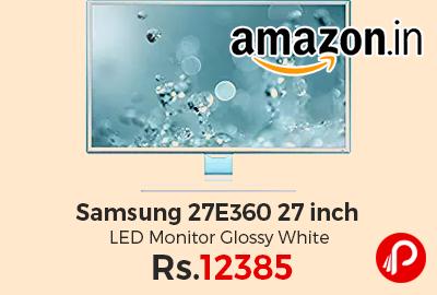 Samsung 27E360 27 inch LED Monitor Glossy White