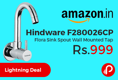 Hindware F280026CP Flora Sink Spout Wall Mounted Tap Just Rs.999 Only - Amazon