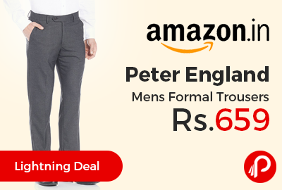 Peter England Mens Formal Trousers Just at Rs.659 Only - Amazon