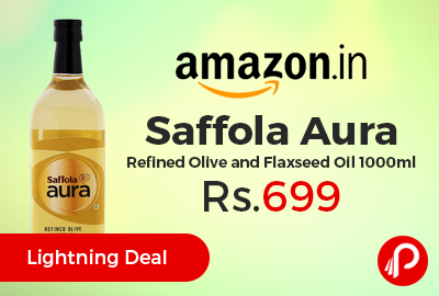 Saffola Aura Refined Olive and Flaxseed Oil 1000ml