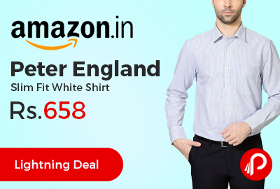 Peter England Slim Fit White Shirt