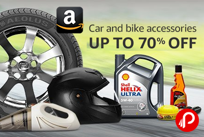 Car and Bikes Accessories Upto 70% off - Amazon
