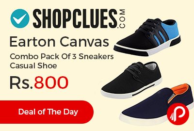 Earton Canvas Combo Pack Of 3 Sneakers Casual Shoe