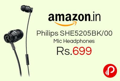 Philips SHE5205BK/00 Mic Headphones