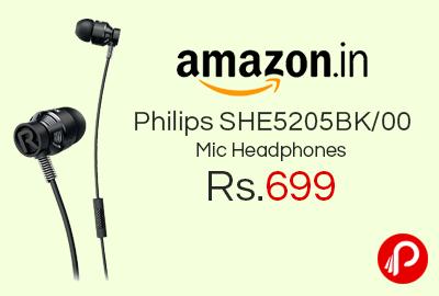Philips SHE5205BK/00 Mic Headphones