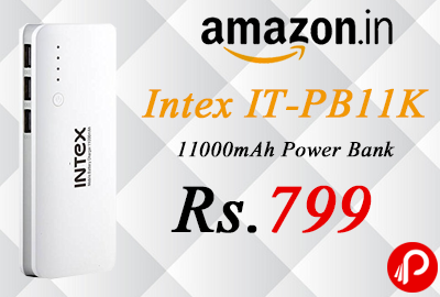 Intex IT-PB11K 11000mAh Power Bank at Rs.799 Only - Amazon