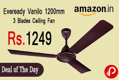 Eveready Vanilo 1200mm 3 Blades Ceiling Fan