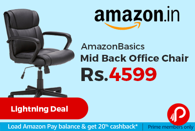 AmazonBasics Mid Back Office Chair Just At Only Amazon