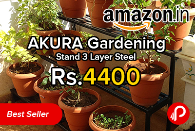 AKURA Gardening Stand 3 Layer Steel