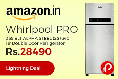 Whirlpool PRO 355 ELT ALPHA STEEL (2S) 340 ltr Double Door Refrigerator