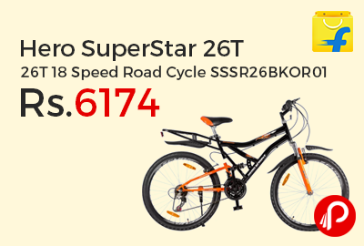 Hero SuperStar 26T 18 Speed Road Cycle SSSR26BKOR01