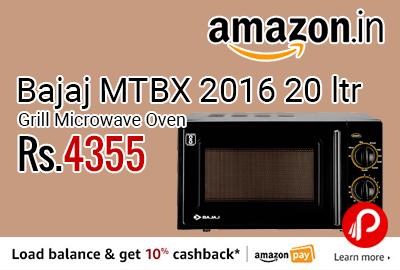 Bajaj MTBX 2016 20 ltr Grill Microwave Oven