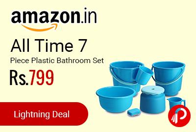 All Time 7 Piece Plastic Bathroom Set