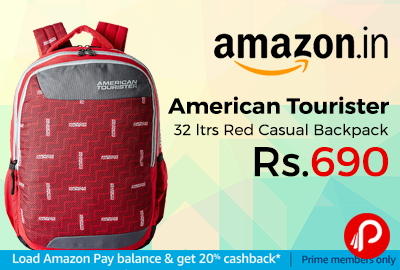 American Tourister 32 ltrs Red Casual Backpack