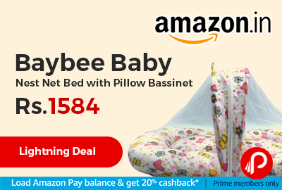 Baybee Baby Nest Net Bed with Pillow Bassinet