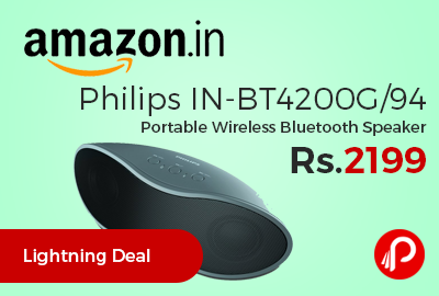Philips IN-BT4200G/94 Portable Wireless Bluetooth Speaker