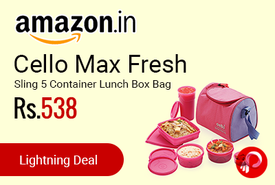 Cello Max Fresh Sling 5 Container Lunch Box Bag