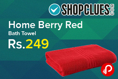 Home Berry Red Bath Towel