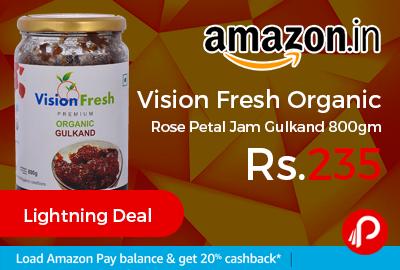 Vision Fresh Organic Rose Petal Jam Gulkand 800gm