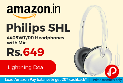 Philips SHL 4405WT/00 Headphones with Mic