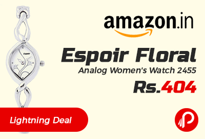Espoir Floral Analog Women's Watch 2455