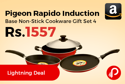 Pigeon Rapido Induction Base Non-Stick Cookware Gift Set 4 Pcs