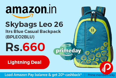 Skybags Leo 26 ltrs Blue Casual Backpack (BPLEO2BLU)