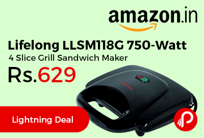 Lifelong LLSM118G 750-Watt 4 Slice Grill Sandwich Maker