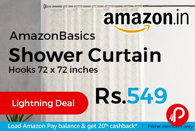 AmazonBasics Shower Curtain Hooks 72 x 72 inches