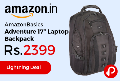 "AmazonBasics Adventure 17"" Laptop Backpack"