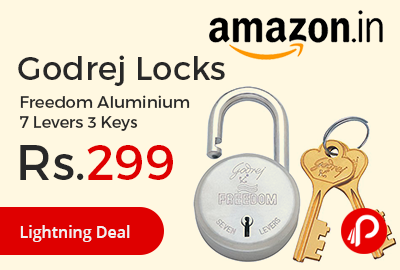 Godrej Locks Freedom Aluminium 7 Levers 3 Keys