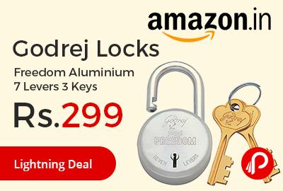 Godrej Locks Freedom Aluminium 7 Levers 3 Keys