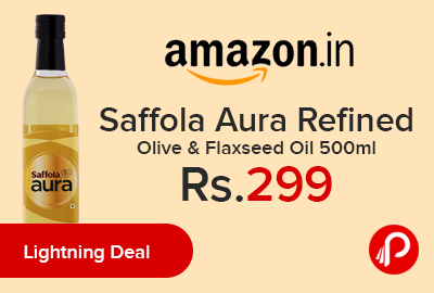 Saffola Aura Refined Olive & Flaxseed Oil 500ml