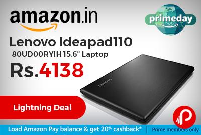 "Lenovo Ideapad110 80UD00RYIH 15.6"" Laptop"