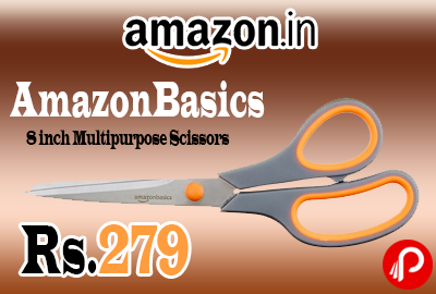AmazonBasics 8 inch Multipurpose Scissors Just at Rs.279 Only - Amazon