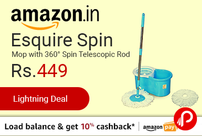 Esquire Spin Mop with 360° Spin Telescopic Rod