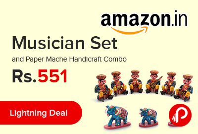 Musician Set and Paper Mache Handicraft Combo