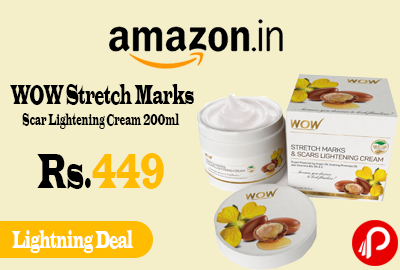 WOW Stretch Marks & Scar Lightening Cream 200ml