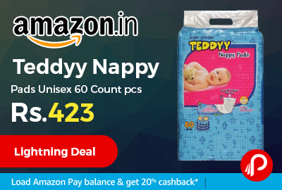 Teddyy Nappy Pads Unisex 60 Count pcs